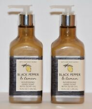 2 Bath & Body Works Black Pepper & Lemon Nourishing Hand Soap w/ olive oil 10oz