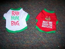 Lot of two (2) Christmas Dog Tees - SIZE X-SMALL