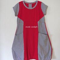 BORIS INDUSTRIES Sommer Kleid mit großen Taschen rot schwarz-weiß Streifen 48(5)