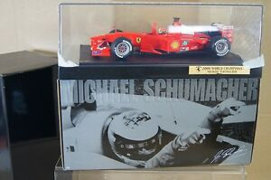 HOT WHEELS 50930 1/18 F1 2000 FERRARI MICHAEL SCHUMACHER CAR 3 BOXED nx