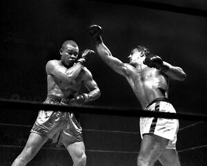 1951 Boxers JOE LOUIS vs ROCKY MARCIANO Glossy 8x10 Photo Heavyweight Poster