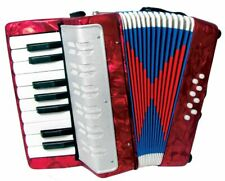Red CHILD'S ACCORDION. 17 Key Kids' Accordian,  Easy & Fun! From Hobgoblin