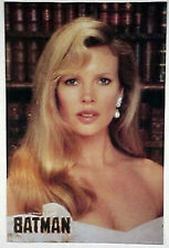 Vintage BATMAN MOVIE 1989 KIM BASSINGER AS VICKI VALE WALL POSTER 23 x 35 inches