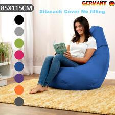 Neu Sitzsack Sitzkissen Bean Bag Gamer Cover Abdeckung Erwachsene Bodenkissen DE