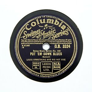 """LOUIS ARMSTRONG & HIS HOT FIVE """"Put 'Em Down Blues"""" COLUMBIA DB-3524 [78 RPM]"""