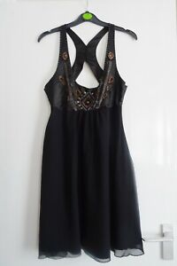 LADIES WOMEN PRETTY LIPSY SPRING SUMMER EMBELLISHED OCCASION DRESS SIZE 12
