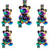 (5pcs Pack) Rainbow Color Bear Locket Beads Cage Pearl Cage Pendant //C290