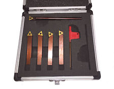 RDGTOOLS 5PC 6MM INDEXABLE TURNING TOOL SET WITH BORING BAR TCMT 09 TIPS