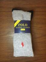 Men's POLO Ralph Lauren Navy / Gray Sport Crew Socks - 4 Pack