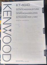 kenwood kt-6040 tuner sintonizzatore radio manuale user manual istruzioni uso