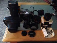 Asahi Pentax Spotmatic SP 35mm Film Camera, Vivitar 70-150 1:3.8, Kenko Lens