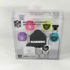 NEW NFL Oakland Raiders Silicone Bottle Stopper And Marker Set