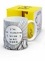 David Shrigley Mug Cup Tea Coffee Funny Rude Comedy Humour Novelty Joke Gift