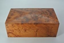 Vintage Burl Wood Wooden Lidded Box Lid Keepsake Trinket Stash Card