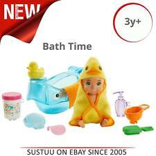 Barbie Bebé niñeras Figura Conjunto de Juego │ Kid's Juego De Accesorios Para Baño Tiempo de temática