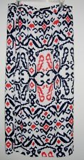 Tommy Hilfiger NEW SIZE 12  Maxi Printed Pull-On Skirt RED WHITE BLUE GEOMETRIC