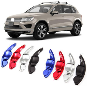 Alloy Steering Wheel DSG Paddle Extension Shifters Cover Fit For VW Touareg 11+