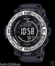 PRW-3510-1D Black Casio Pro-Trek Men's Watches Solar Compass Resin Band New