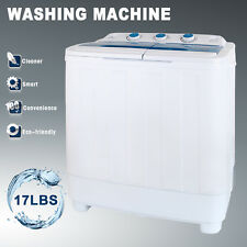 Portable Washing Machine 17LBS Mini Compact Twin Tub Laundry Washer Spin Dryer