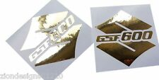 S GSF 600 CHROME OR CHROME stickers personnalisé graphique 70mm x 70mm