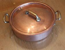 fabrication française ancienne  faitout ou casserole en cuivre étame