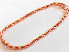 "NEW PURE Copper 9.50"" Rope chain ANKLET Arthritis Relief Folklore USA Made"