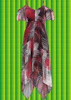 G310✪ Indian Spirit Hippie Gipsy Ethno Folk Zipfel Kleid Boho mit Muster Gr. 36