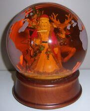 "Father Christmas (Santa Claus) & Reindeer Musical Snow Globe - ""Jingle Bells"""