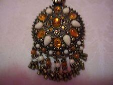 "JOAN RIVERS Bronzetone Marakesh Pendant With Chain 28"""