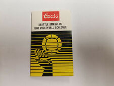 Seattle Smashers 1980 IVA Pro Volleyball Pocket Schedule - COORS BLIND