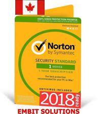 Norton Internet Security Standard DOWNLOAD  2017 1 PC 1 Year  Antivirus USA & CA
