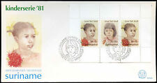 Suriname 1981 Child Welfare M/S FDC First Day Cover #C30233