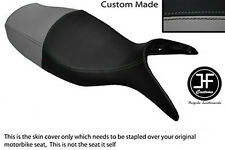 BLACK & GREY VINYL CUSTOM FITS BMW R 1100 S 98-05 DUAL SEAT COVER ONLY