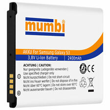 Mumbi Power Ersatz Akku Samsung Galaxy S3 I9300 Ersatzakku 2400ma (ohne Nfc)
