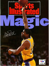 Magic Johnson SIGNED Full Sports Illustrated NL ITP Lakers PSA/DNA AUTOGRAPHED
