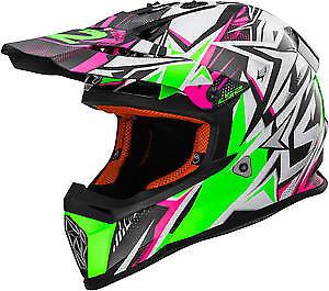 GENUINE LS2 MX 437 STRONG PINK YOUTH LARGE HELMET MOTOCROSS ENDURO MTB MX