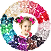 """30 Pieces Baby Girls Hair Bows Alligator Clips Grosgrain Ribbon 4.5"""" Bows Clips"""