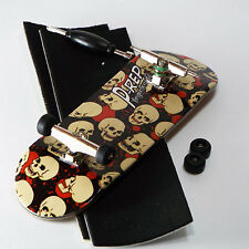 P-REP - 32mm Graphic Complete Wooden Fingerboard - Skulls