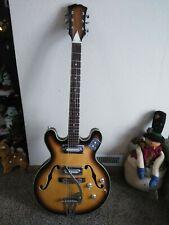 RARE Vintage 1960's KAWAI TEISCO Hollowbody TOBACCO Sunburst MIJ GRETCH Guitar