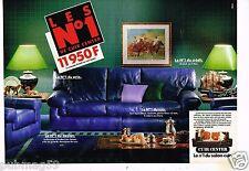 Publicité advertising 1988 (2 pages) Fauteuil canapé Cuir Center