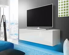 TV Hängeboard LANA mit LED, Eiche, Hochglanz Wei�Ÿ Schwarz Grau 100/140/160/200cm