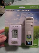 ACURITE, NEW THERMOMETER WITH CLOCK, INDOOR/OUTDOOR TEMP, WIRELESS