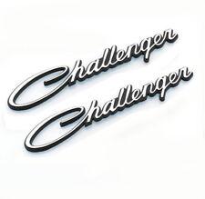 2x Chrome Challenger Emblems badge Decal Nameplate for Dodge Chrysler MOPAR OEM