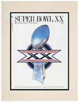 "1986 Bears vs Patriots 10.5"" x 14"" Matted Super Bowl XX Program - Fanatics"