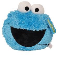 Primark Cookie Monster Blue Cushion Sesame Street Cute 3D Pillow Home Decor