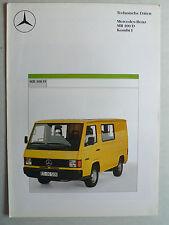Prospekt Mercedes MB 100 D  Technische Daten  Kombi I, 8.1987, 4 Seiten