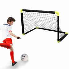 Dunlop Porta con Rete Allenamento Calcio per Bambini - Nera/Gialla