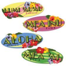 Luau Party Hawaiian Sign Cutouts (4 pack)