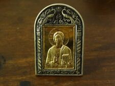 small silver icon  925 sterling silver with goldplated areas