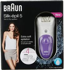 Braun Silk-épil 5 5-541 - Schnurloses Nass- / Trocken-Epiliergerät mit 4 Extras,
